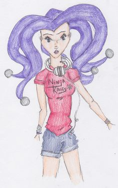 B10OV S.09 - Zedona. Future Frightwig's adopted granddaughter of the evil Zombozo Gang. In her normal clothes.