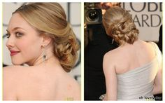amanda seyfried hair updo <3 This would be great for prom or a wedding!
