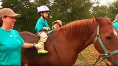 """A therapeutic horse riding center, Healing with Horses Ranch, opened Saturday in Manor.    Horses have already changed the life of two-year-old Caleb Witcher. Diagnosed with insomnia and a sensory processing disorder, Caleb has already received a year of horse-riding lessons.    """"He also had developmental milestones, his core was very loose so he'd fall forward and fall back, and now that's definitely improved a lot,"""" Caleb's mother Kristen Witcher said."""