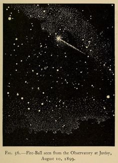 nemfrog: Fig 56. Fire ball seen from the Observatory at Juvisy, August 10, 1899.