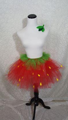 Strawberry Tutu Set CHILD Strawberry Costume Fruit Costume