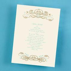 Luxe Metallic Invitation - Ecru weddingneeds.carlsoncraft.com