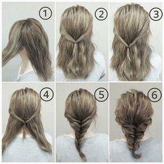 Fish bone braids