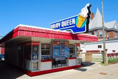 "Dairy Queens have been around a long time. My most poignant memory was listening. - Dairy Queens have been around a long time. My most poignant memory was listening to ""Hey Jude"" - Vintage Diner, Vintage Ads, Vintage Photos, Vintage Signs, Restaurant Signs, Vintage Restaurant, Dairy Queen, Restaurants, Good Ole"
