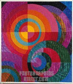 Johannes Itten (1888 - 1967)  Circles.  Itten was a painter, writer, color theorist and a Bauhaus teacher.