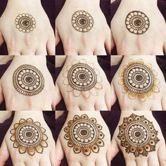 Latest Easy Henna Tattoo Designs Step by Step for Beginner Latest Easy Henna Ta. Latest Easy Henna Tattoo Designs Step by Step for Beginner Latest Easy Henna Tattoo Designs Step b Henna Hand Designs, Eid Mehndi Designs, Simple Mehndi Designs Fingers, Round Mehndi Design, Henna Tattoo Designs Simple, Indian Henna Designs, Mehndi Designs For Girls, Mehndi Designs For Beginners, Modern Mehndi Designs