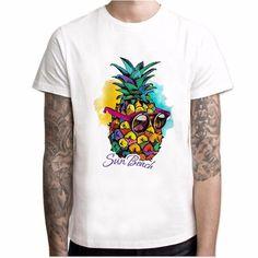 Watercolor Pineapple Sun Beach T Shirt In 2020 Beach T Shirts