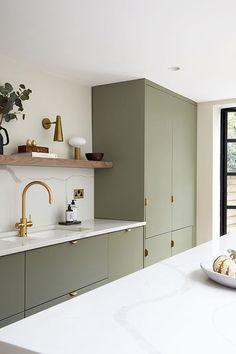 Home Decor Kitchen .Home Decor Kitchen Kitchen Room Design, Modern Kitchen Design, Home Decor Kitchen, Interior Design Kitchen, Home Kitchens, Minimal Kitchen, Long Kitchen, Shaker Style Kitchens, Open Shelf Kitchen
