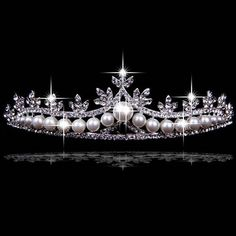 Elegant Silver Pearl Tiara I am of Indian royalty and every princess needs a crown Royal Crowns, Tiaras And Crowns, Pageant Crowns, Wedding Accessories, Wedding Jewelry, Wedding Tiaras, Wedding Crowns, Wedding Veils, Wedding Dress
