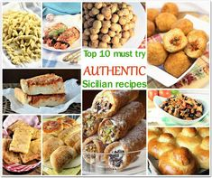 If you can't get to Sicily any time soon, bring Sicily home to you with some of my top ten must try authentic Sicilian recipes! Sicilian Style Pizza, Summer Pasta Dishes, Chickpea Fritters, Eggplant Caponata, Sausage Bread, Mother Recipe, Sicilian Recipes, Mediterranean Recipes, Fish And Seafood