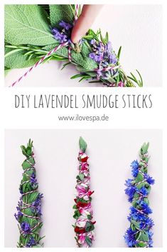 DIY Smudge Sticks im Sommer – Räucherbündel selber machen – Les Tendances Wiccan, Pagan, Make Your Own, Make It Yourself, How To Make, Sleepover Crafts, Sage Smudging, Herbal Magic, Smudge Sticks