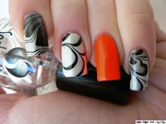 Blue Tape and Nail Tips: Black and White for Halloween and a Nail Tip
