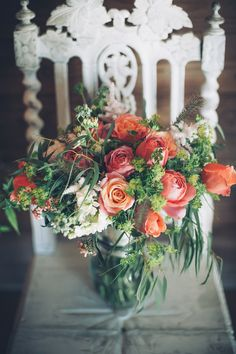 Summer garden bridal bouquet  by Rose Cottage Flowers  Image Teri V photography