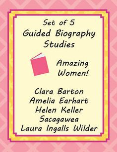 Guided Biography Study Set of 5 Amazing Women