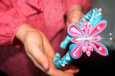 This unique and beautiful hand made kanzashi headband would be perfect for you or your little girl and would make a wonderful gift.    My grandmother