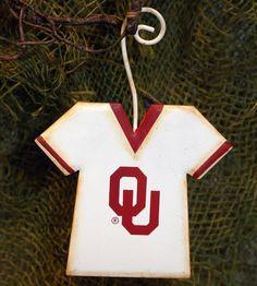 NCAA Oklahoma University Jersey School Ornament The Round Top Collection GOKU013