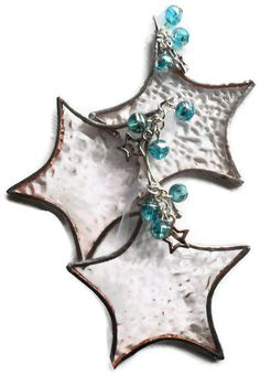 Stained Glass Star Christmas Tree Decoration by RavensStainedGlass,