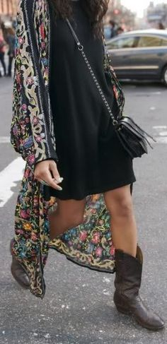 Flowers And Docs by Le Happy. Love the jacket and boots!
