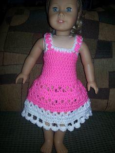Crochet dress for American Girl doll by Crochet911 on Etsy, $10.00