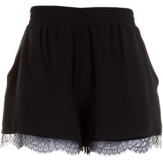 Pre-owned Women's BCBGeneration Black Shorts ($25) ❤ liked on Polyvore featuring shorts, bottoms, short, black, skirts, short shorts and bcbgeneration