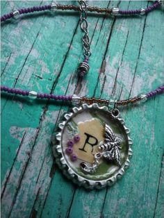 lovely bottle cap necklace!