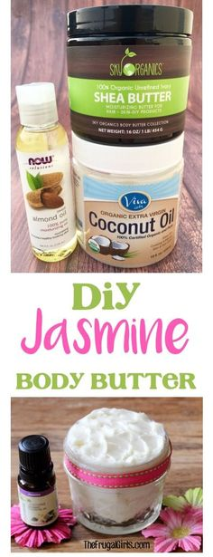 Easy DIY Jasmine Body Butter Recipe!  The ultimate solution for dry skin, and the perfect little gift in a jar! | TheFrugalGirls.com