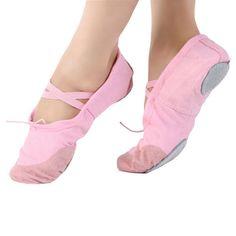 Ballet Dance Gymnastics Shoes Girl Soft Women Canvas Fitness Slippers