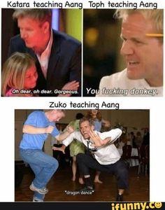 On dear, oh dear. Gorgec Huckingidonkeys Zuko teaching Aang - )