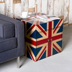 Union Jack - $39... make? Denim + red strapping or ribbon? | Kidu0027s Room | Pinterest | Best Union jack ideas & Union Jack - $39... make? Denim + red strapping or ribbon? | Kidu0027s ...