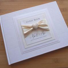 Wedding Guest Book Wedding Guestbook Luxury Unique by RedNell