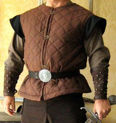 Medieval Celtic Viking Armor Padded Short Gambeson Sleeveless with Wings.