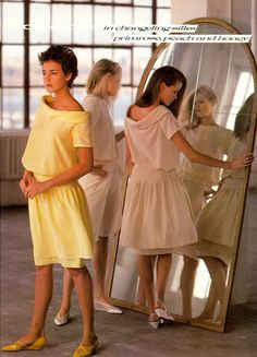 Pastel Silk Dresses 1980s...I would have loved to wear a dress like this