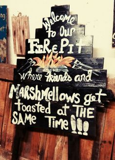 Custom Fire Pit sign Large $62