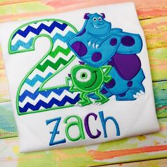 Monsters Inc Birthday Shirt Personalized by SWDdesigns on Etsy