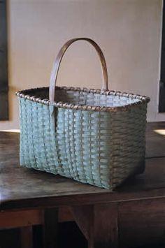 robins egg blue basket