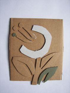 Floral Collagraph - 4th grade?