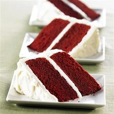 Moist and luscious, classic red velvet cake is as delightful to behold as it is to eat!