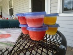 Home made paints, glue, and Kool Aid Tie Dye!