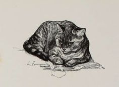 "Cat drawing by Auguste Lançon (French, 1836-1885) - Illustration from the book, ""Pen drawings and pen draughtsmen, their work and their methods; a study of the art to-day with technical suggestions"" by Joseph Pennell (1889)"