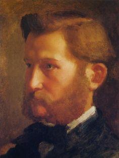 "Edgar Degas | ""Paul Valipncon"" (french, 1834-1917) oil, 32.5 cm x 24 cm (@1868)  artxart.com"