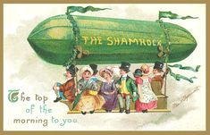 vintage st patrick's day postcard, featuring the shamrock zeppelin Zeppelin, Vintage Cards, Vintage Postcards, Vintage Images, Vintage Pictures, Holiday Postcards, Vintage Ephemera, Vintage Photographs, Holiday Cards
