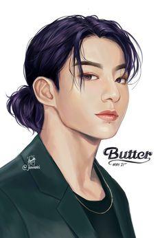 Jungkook Fanart, Jungkook Cute, Kpop Fanart, Vampire Boy, Bts Concept Photo, Dark Anime Guys, Kpop Drawings, Bts Face, Cute Japanese Girl