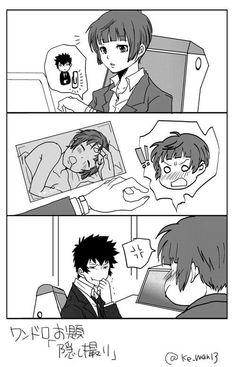 When your OTP is perfect Anime Couples Manga, Manga Anime, Anime Art, Kogami Shinya, Gakuen Babysitters, Gekkan Shoujo Nozaki Kun, Psycho Pass, Anime Fantasy, Couple Art