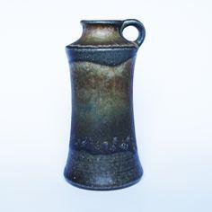 Kamionkowy wazon z lat 60. | Stoneware vase, 60s. | buy on Patyna.pl | #forsale #vintage #vintagefinds #vintageshop #vintagelove #retro #old #design #home #midcenturymodern #want #amazing #home #inspiration #kitchen #decoration #furniture #vase #ceramics #stoneware #black #blue #60s #1960s #stefan #retrohomedecor