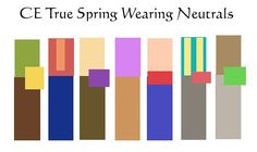 True Spring is a (2 colour + 1 neutral) or (2 neutrals + 1 colour) look. Actually, that's probably everyone's best way to use neutrals, but when you wear the  2 colour, they can both be equally sized if you choose (others might use 1 large and 1 smaller block), and they can be complementary or at least quite different colours (others would wear colours of the same family or neighbours on the colour wheel).  When you wear the 1 colour look, make it a bright one, not one of the gentler ...
