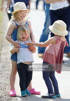 Savannah and Isla Phillips with Mia Tindall at Badminton Horse Trials | May 8, 2016
