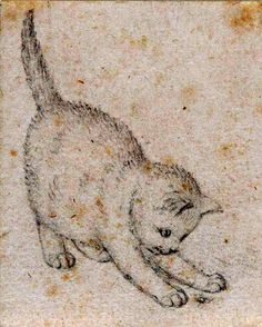 Gottfried Mind (Swiss, 1768-1814) - A kitten