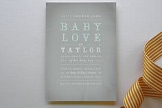 Baby Love Baby Shower Invitations by Rebekah Disch at minted.com