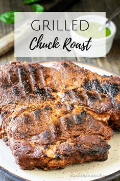 It's possible to grill a delicious chuck roast with this recipe from Biscuits & Burlap. Chuck Roast Grill Recipe, Chuck Roast Recipes, Beef Chuck Roast, Roast On The Grill, Roast Steak, Grilled Roast, Pot Roast, Grilling Recipes, Beef Recipes