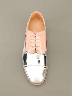Dieppa Restrepo Mirror Front Lace-up Shoe Echte glamour schoenen Lace Up Shoes, Men's Shoes, Shoe Boots, Dress Shoes, Shoe Bag, Shoes 2016, Saddle Shoes, Silver Shoes, Nike Shoes